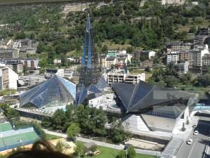 Overhead view of Andorra la Vella